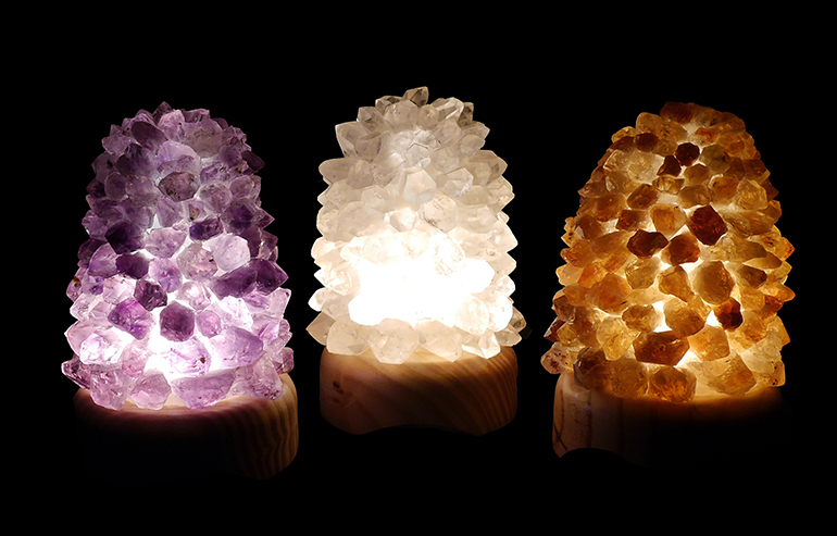 Lotus crystal lamps