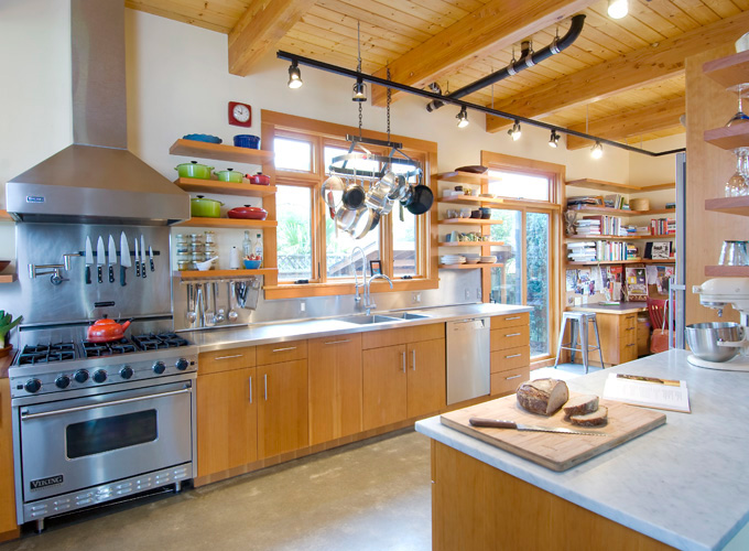 The baker's kitchen is designed for personal and professional use.