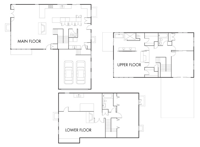 Floorplans for the Davis/Rubovits house