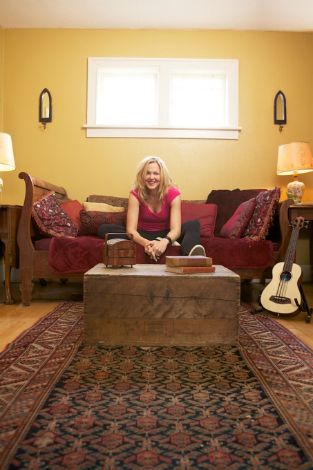 Singer Storm Large in her parlor.
