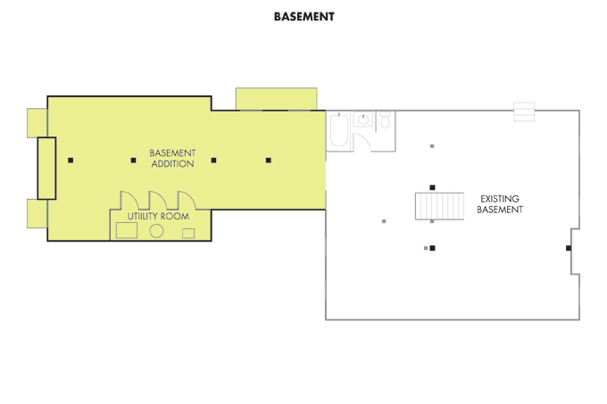 The basement could hold a couple bowling lanes, pool table or workout equipment and still have room to spare.