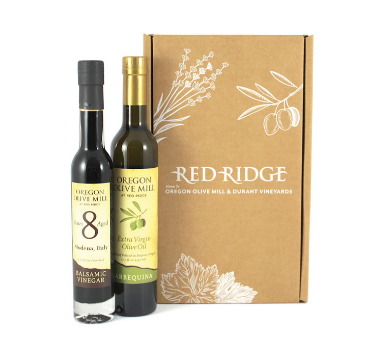 Olive oil vinegar gift box