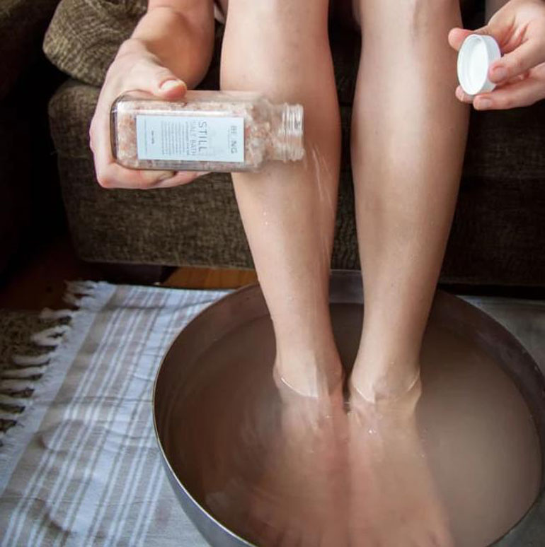 still salt bath 8oz apothecary salts calm dead sea baths live by being nail foot toe 661 2048x