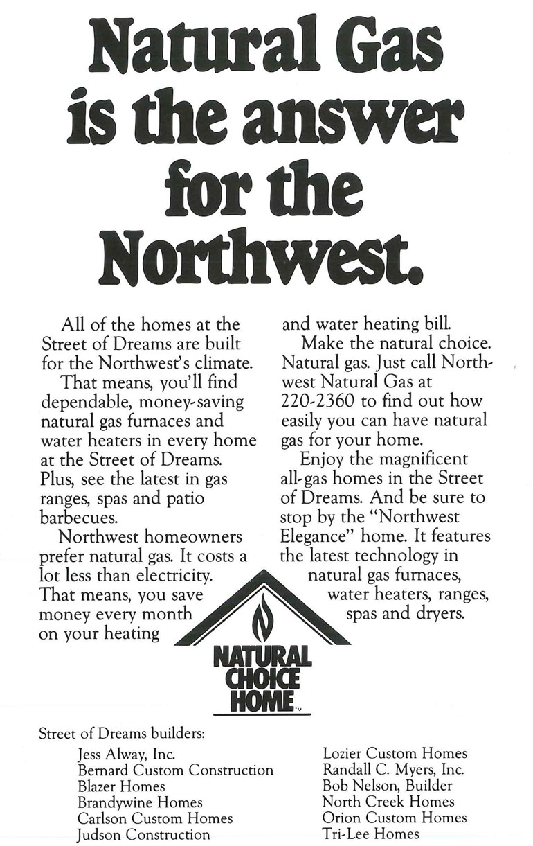 NW Natural Gas Ad 1986